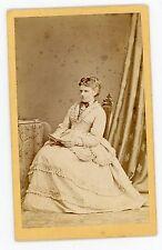 PHOTO CDV München Otto Reitmayer une femme pose Deutschland 1870