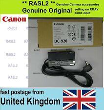Original CANON DC-920 DC Coupler DC Power Cable Dummy Battery XM2 XL1 XL2 GL1 ,2