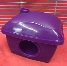 Hámster casa de plástico de 5.5 X 4.5 pulgadas hámster jerbo ratón enano púrpura