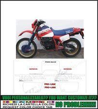 kit adesivi stickers compatibili xl 600 r paris dakar 1984