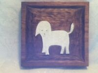 "PERSONALIZED PET PORTRAIT 11"" 3D Skil Saw Wood Folk Art Designs by Eric Dog"