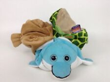 Pop Out Pets 3 Animals in One Turtle Dolphin and Walrus Plush Stuffed Toy