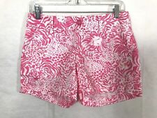 Lilly Pulitzer Womens Pink White Get Spotted Animal Print Callahan Shorts Size 0