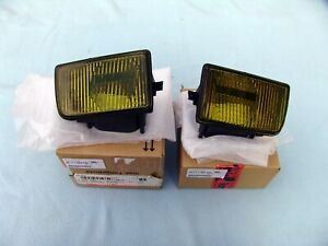 BMW E34 M5 YELLOW EURO FOGLIGHTS, ORIGINAL HELLA, BRAND NEW, MADE IN GERMANY