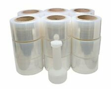 "Mini Handy Clear Pallet Stretch Shrink Wrap Film 3"" x 1000 Roll 80 Gauge 12 Pack"