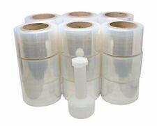 "Mini Handy Clear Pallet Stretch Shrink Wrap Film 3"" x 1000 Roll 80 Gauge 12 Pack"