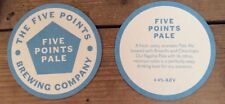 Five Points Brewing Company Pale Ale beermat beer mat/coaster new