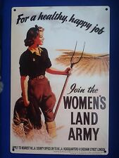 WOMEN'S LAND ARMY METAL WALL SIGN - For a healthy, happy Job Join