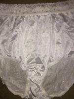 """NOS Vintage HANES size XL/8 Lace Trim Full Rise Hi Leg Nylon Pantie (34""""-36"""")"""