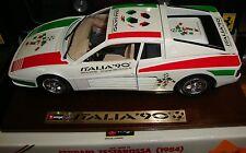 FERRARI TESTAROSSA ITALIA 90 ON WOOD BASE 1/18 Scale by Burago NEW IN BOX