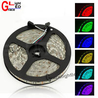 16.4FT 5M SMD 5050 Waterproof 300LED RGB Color Changing Flexible LED Strip Light