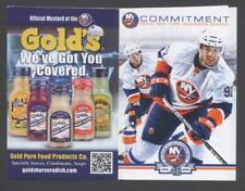 2011-12 New York Islanders NHL Pocket Hockey Schedule