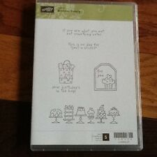 """STAMPIN' UP! """"BIRTHDAY BAKERY"""" CLEAR SET OF 5. NIB Retired cakes tag +"""