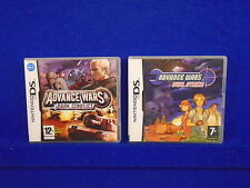 ds ADVANCE WARS Dual Strike + Dark Conflict Multiplayer Strategy Games Lite DSi