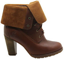 Timberland Block Ankle 100% Leather Boots for Women