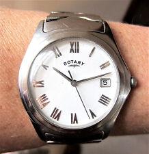 Gents Working SS Rotary Quartz Date Bracelet Watch GB02230/10 Working for Sale