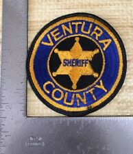 Ventura County California Sheriffs Department Police Patch Cheesecloth Reverse