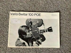 Bolex H16 Reflex Vario Switar 100 POE instructions manual