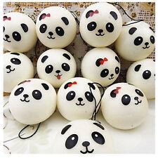 1Pc Jumbo Panda Squishy Soft Buns Cell Phone Key Chain Bread Straps Cute Gift