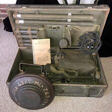 WWII 1944 U.S.ARMY AN/PRS-1 MINE DETECTOR +1 INERT DUMMY TELLERMINE 43 (USMfr'd)
