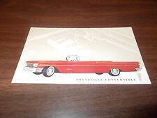 1960 Pontiac Bonneville Convertible Original Advertising Postcard
