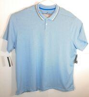Nike Mens Golf Polo Shirt Blue White Short Sleeve 4XL New Dri Fit MSRP $75