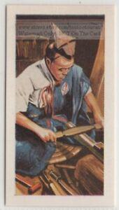 Japanese Samurai Sword Master Sharpening Knife Blade Vintage Trade Ad Card