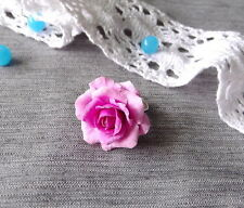 Flower ring HANDCRAFTED rose Fashion polymer clay jewelry pink ring HANDMADE