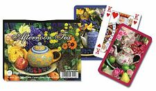Afternoon Tea Double Deck Bridge Size Playing Cards by Piatnik