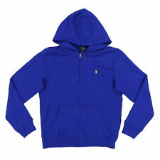 Polo Ralph Lauren Boys Sweatshirt Hoodie Full Zip Kids Front Pocket New Prl M