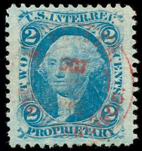 momen: US Stamps #R13c Revenue Handstamp Used GEM