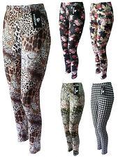 Leggings Musterleggings Leggins elastisch super Fotoprint Gr. 40 42 44 46 48 50