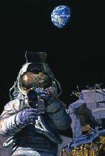 Alan Bean MOON ROVERS art print, Lunar Rover, Module