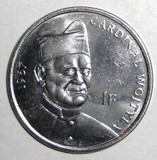 2004 Congo 1 franc, Cardinal Wojtyla, Pope John Paull II, Lion coin