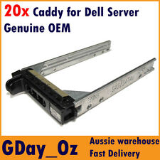 "20x 2.5"" Dell Server Caddy Bulk Discount Pack KF248 F830C PowerEdge PowerVault"