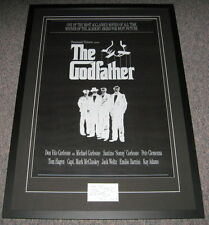 Francis Ford Coppola Signed Framed 31x44 Note & Godfather Poster Display JSA