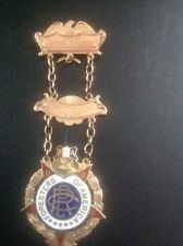 FORESTERS OF AMERICA CLUB Vintage 10 K SOLID GOLD ENAMELED ORDER.VERY REAR