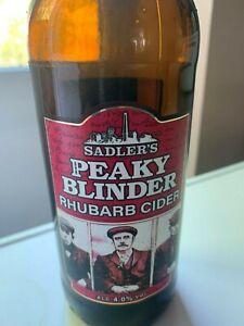 Empty Peaky Blinder Cider bottle