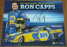 2015 Ron Capps signed Napa Dodge Charger Funny Car NHRA postcard