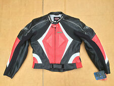 "RK Sports Mens Leather Summer Motorcycle Jacket Size UK 44""- 46"" Chest (J35)"