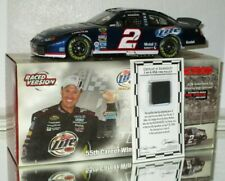 2004 Rusty Wallace #2 Miller Lite Martinsville Raced Win AUTOGRAPHED 1/24 car