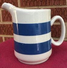 "Blue & White Stripe Small Pitcher / Jug 4"" made in england"