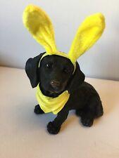 Dachshund Figurine With Bunny Ears