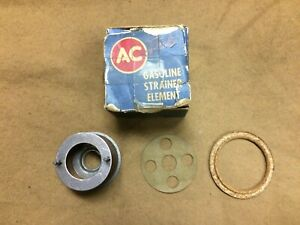1955,1956 Thunderbird NOS AC fuel filter element with gaskets, B5S 9365-A