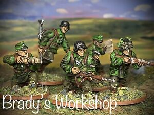 Bolt Action German Waffen SS Infantry 5 Man Squad 28mm Painted Miniatures WW2