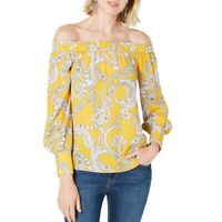 INC NEW Women's Paisley-print Off-the-shoulder Blouse Shirt Top TEDO