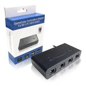 GAMECUBE CONTROLLER ADAPTER FOR WII U SUPER SMASH BROS PC USB & NINTENDO SWITCH
