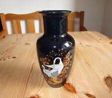 Hübsche Dekovase,Vase,Tischvase,Dunkelblau-Schwarz-Mehrfarbig,Höhe 20 cm