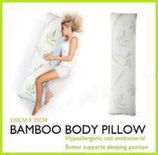 BAMBOO Body Pillow Memory Foam Large Natural Maternity Pregnancy Suppor 130cm