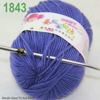 Sale New 1ballx50g Soft Cashmere Silk Wool Baby Children Hand Knitting Yarn 43